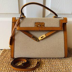 Vintage Castellari Kelly Style Bag Made in Italy